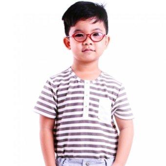 Áo thun bé trai Ugether UKID53 (Sọc xám)