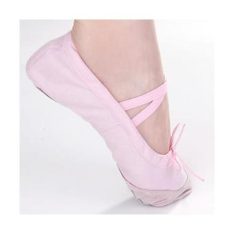 Pink Canvas Ballet Shoes Toddler Girls US Child Size 11# 6 2/3 Inch - intl