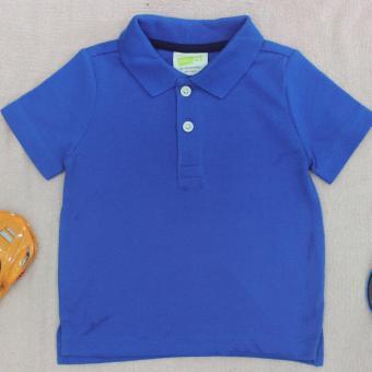 Áo phông bé trai ngắn tay cổ tròn ( xanh dương )