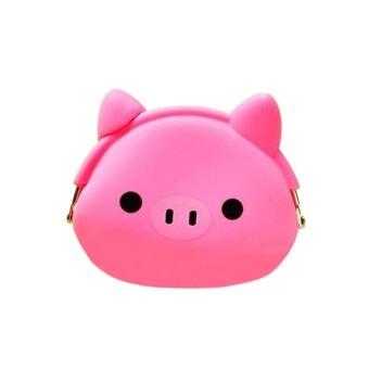 Bluelans Kawaii Xmas Gift Cartoon Pig Silicone Jelly Coin Purse Mini Wallet (Intl)
