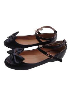 Giày búp bê nơ xinh Ballerina Dolly&Polly DL119 (Đen)