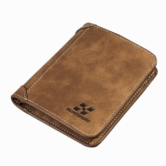 Cyber Men PU Leather Coin Purse Pockets Card Holder Clutch Wallet ( Coffee ) - intl