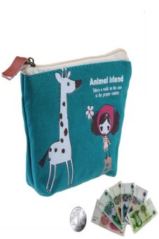 HKS Women Children Key Card Cash Animal Case Kids Coin Bag Purse Pouch Blue - intl