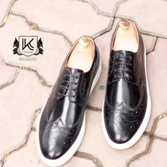 Giày da Sneaker sang trọng Kazin màu đen - KZD0048