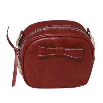 Women Portable PU leather Bowknot Bag (Red) (Int: One size) - Intl