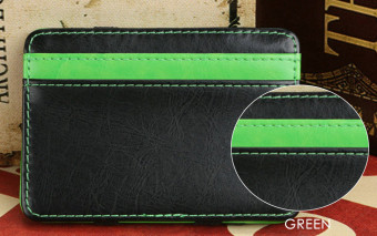 FLAMA Block Resilient Wallet Money Clip for Unisex Horizontal(Green) - intl
