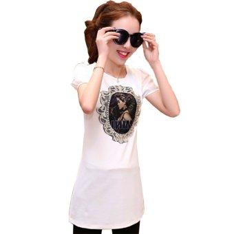 Áo kiểu form dài in hỉnh cô gái BeYeu1688 - BY6056