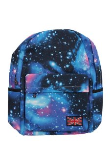 LALANG Galaxy Pattern Backpack (Blue)