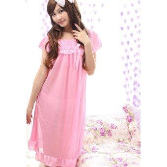 Váy Ngủ Gợi Cảm Cao Cấp Honey MS485 - Hồng