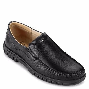 Giày Lười Nam Da Bò SunPoLo S812DRN (Đen)