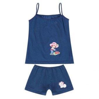 Bộ đồ mặc ở nhà Cotton 100% màu xanh nhãn hiệu lotbe