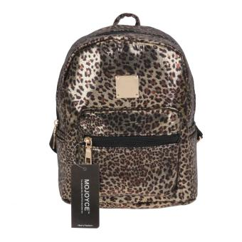 Woman Polka Dot PU Leather Backpack (Leopard) - Intl