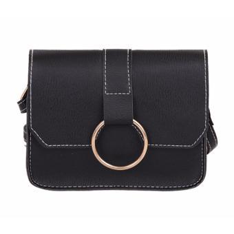 Túi đeo chéo nữ Hàn Quốc da mềm (đen)