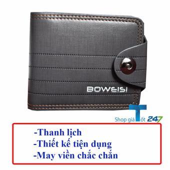 Ví Nam Ngang Khóa Từ Boweisi (Nâu Ghi)