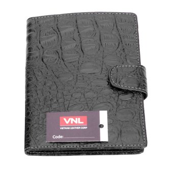 Ví Passport da thật Da Giày Việt Nam VNL7LZ38D (Đen)