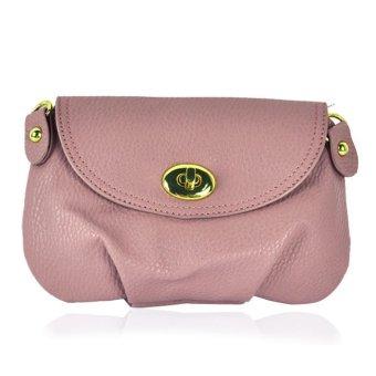 Leather Cross-Body Hand Bag (Purple)