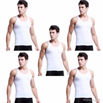 Bộ 5 áo lót nam co giãn rozalo RNAL95COW (Trắng)