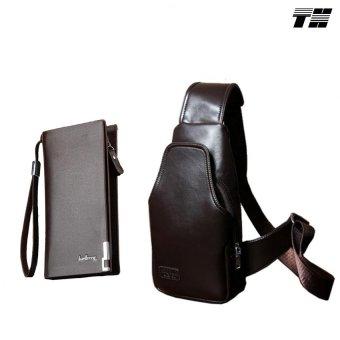 Bộ túi đeo chéo và ví dài nam thời trang THCB25