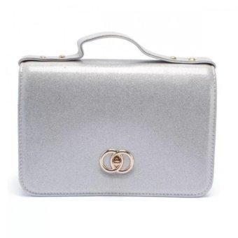 Túi hộp đeo chéo kim tuyến MS137 (Trắng)