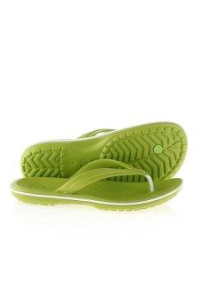 Dép xỏ ngón nam Crocs Crocband Flip VGr/Whi 11033-394 (Xanh lá)