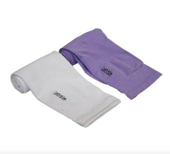 Bộ 2 đôi găng tay chống nắng xỏ ngón Aqua-X Let's Slim (Trắng - Tím)