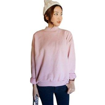 Women Hoodies Sports Sweatshirt Pullover Pink - intl