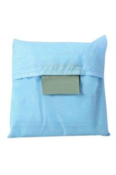 Bluelans Reusable Folding Shopping Bag Travel Bag Grocery Bags Tote (Sky Blue) (Intl)