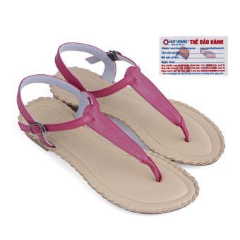 HL7026 - Giày xăng đan đế bằng Huy Hoàng màu tím