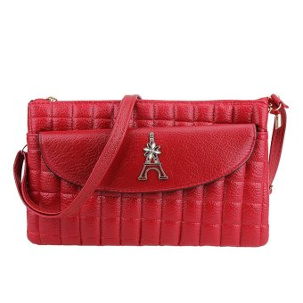 New Women PU Leather Mini Handbag Shoulder Crossbody Bag (Red) - intl
