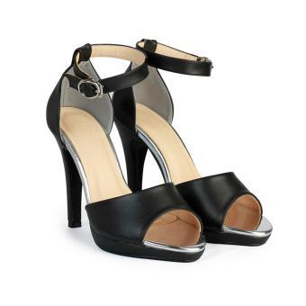Giày Sandal Nữ Đế Đúp 11 Cm HC1374 (Đen)