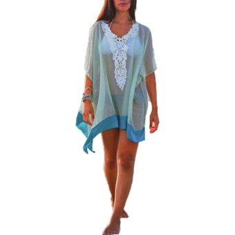 ZANZEA Swimwear Beach ladies Summer WearDress Cover up Top Blouses - Intl