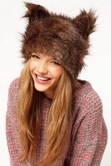 Cyber Women's Rabbit Ears Shape Cap Hat (Multicolor) - Intl