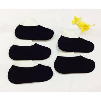 Bộ 5 Tất Nữ Nửa Bàn Chân Hàn Quốc Vhq155a (đen)