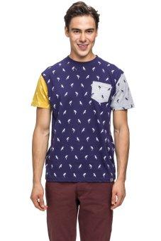 Bellfield Men's Parrot Print Shirt Navy