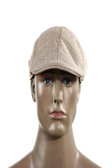HKS Mens Vintage Flat Cap Peaked Racing Hat Beret Country Golf Newsboy(Khaki) - intl