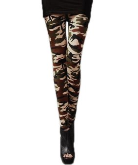 Linemart New Fashion Women's Camouflage Print Legging Tight Pants 3 Colors Nice ( Multicolor ) - intl