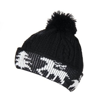 New Winter Warm Unisex Women Men Knit Ski Crochet Cap Beanie Hat Black (Intl)