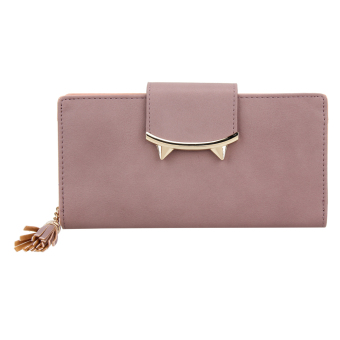 Women PU Leather Long Tassel Wallet Cute Card Coin Holder Clutch Purse - intl