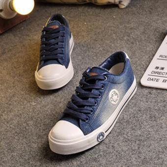 Giày thể thao vải jean xanh đậm đơn giản TT127