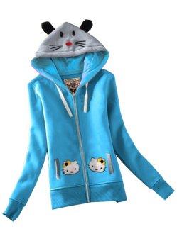Áo khoác nữ họa tiết mèo KG072 – F97