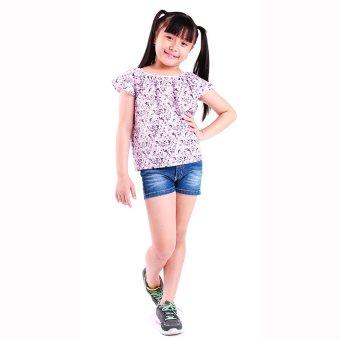 Áo kiểu bé gái Ugether UKID60 (Hoa văn tím)