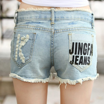 Short Jean rách túi chữ K - 129