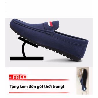Giày lười nam da lộn