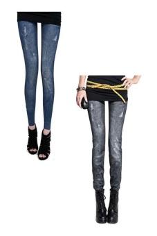 Bộ 2 quần legging Huy Kiệt HK93 (Đen và Xanh Đen)