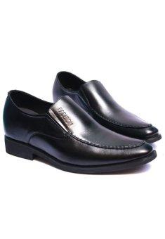 Giày lười công sở đế tăng chiều cao 6.5cm (Đen)