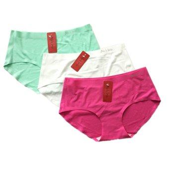 Bộ 3 quần lót thông hơi Thái Lan không đường may MPShop Nobra (Xanh trắng hồng)