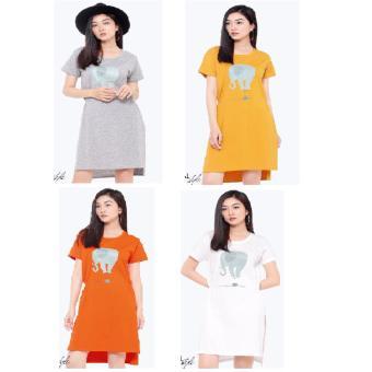 Đầm suông thun cotton nữ TRI LAN DAM025 (cam)