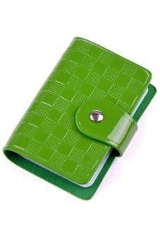 Bluelans Woman Patent Leather ID Credit Card Case Holder Pocket Bag Wallet Green (Intl)
