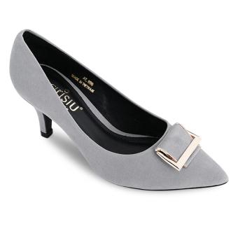 Giày cao gót bít mũi Sarisiu XT751 (Xám)