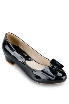 Giày gót vuông 3 phân Anale (Đen)